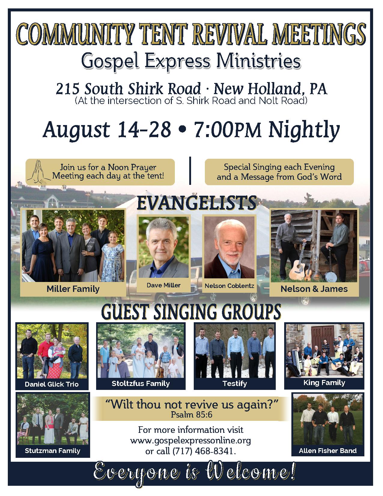 sc 1 st  Lancaster County Revival & Community Tent Revival Meetings   Lancaster County Revival